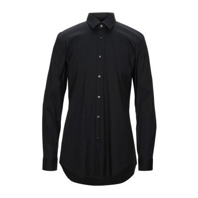 BOSS HUGO BOSS シャツ ブラック 37 コットン 76% / ナイロン 20% / ポリウレタン 4% シャツ