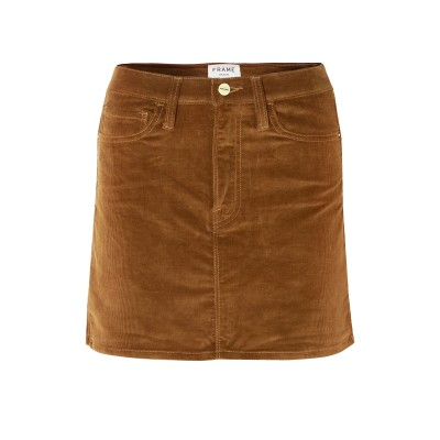 フレームデニム FRAME ミニスカート ブラウン 30 コットン 95% / レーヨン 4% / ポリウレタン 1% ミニスカート