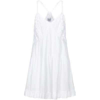 ドンダップ DONDUP ミニワンピース&ドレス ホワイト 40 コットン 100% ミニワンピース&ドレス