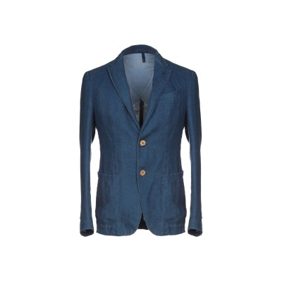 DOMENICO TAGLIENTE テーラードジャケット ブルー 50 麻 100% テーラードジャケット