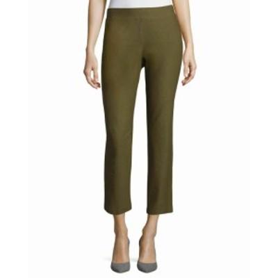 Eileen Fisher アイリーンフィッシャー ファッション パンツ Eileen Fisher NEW Green Womens Medium M Pull-On Cropped Stretch Pants