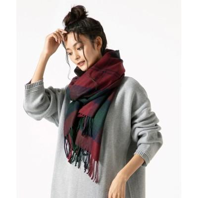 QUEENHEAD / 大判チェック/無地/ヘリンボーンストールマフラー WOMEN ファッション雑貨 > ストール/スヌード