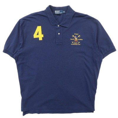 古着 ラルフローレン Polo Ralph Lauren ポロシャツ ネイビー サイズ表記:XXL