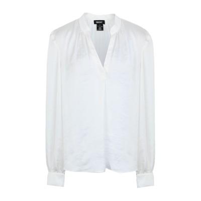 DKNY ブラウス ホワイト L ポリエステル 100% ブラウス