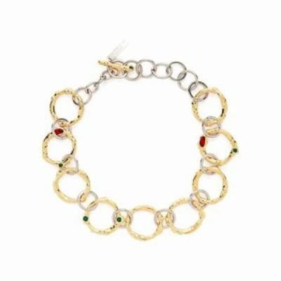 マルニ ネックレス Crystal-embellished chain-link necklace Gold