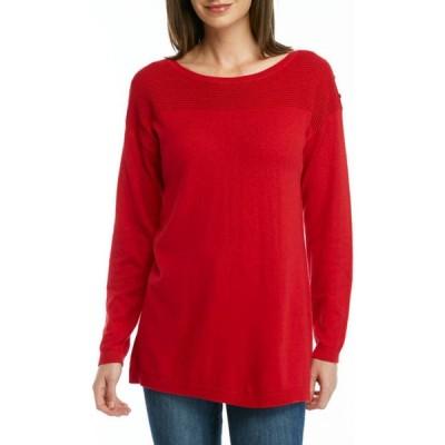キム ロジャース レディース ニット・セーター アウター Women's Drop Shoulder Sleeve Tunic Sweater