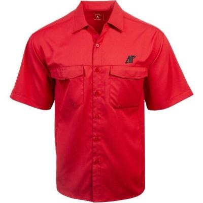 アンティグア シャツ トップス メンズ Antigua Men's Austin Peay State University Game Day Woven Fishing Shirt Dark Red