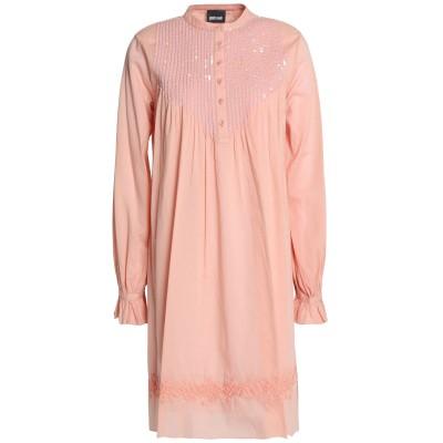 ジャストカヴァリ JUST CAVALLI ミニワンピース&ドレス サーモンピンク 40 コットン 100% ミニワンピース&ドレス