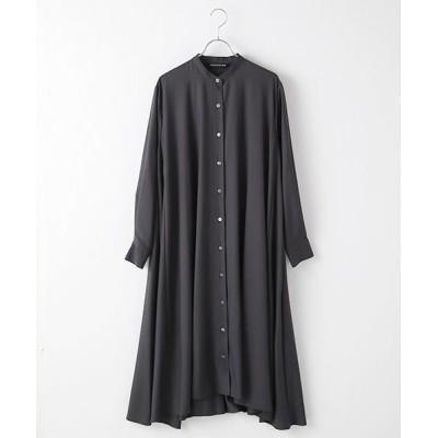 MARcourt/マーコート band collar flare shirt OP c.gray FREE