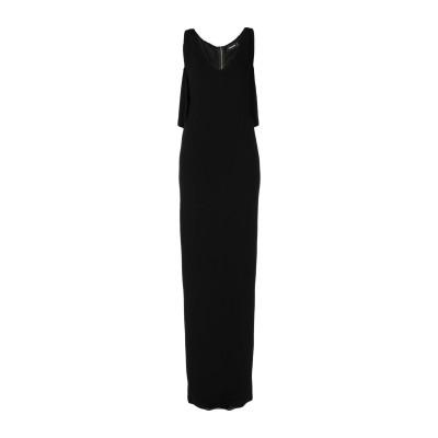 ディースクエアード DSQUARED2 ロングワンピース&ドレス ブラック XS レーヨン 91% / ナイロン 8% / ポリウレタン 1% ロン