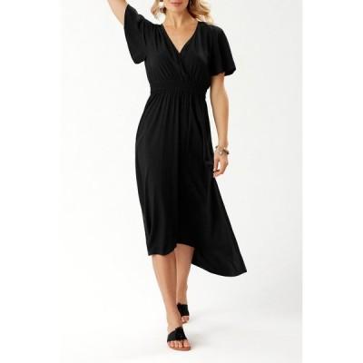 トッミーバハマ レディース ワンピース トップス Oliana High/Low Maxi Dress BLACK