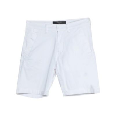 LIU •JO MAN バミューダパンツ ホワイト 42 コットン 98% / ポリウレタン 2% バミューダパンツ