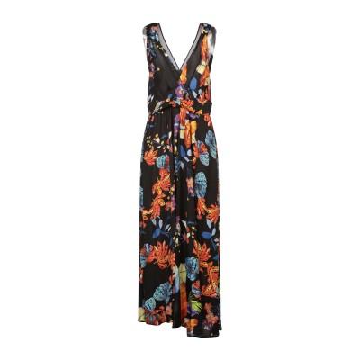 ピンコ PINKO ロングワンピース&ドレス ブラック 40 レーヨン 100% ロングワンピース&ドレス