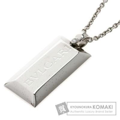 ブルガリ インゴット ダイヤモンド ネックレス K18ホワイトゴールド レディース 中古