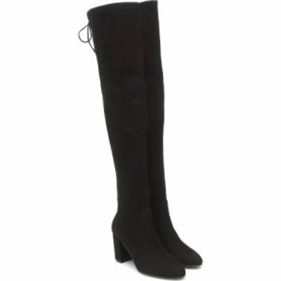 スチュアート ワイツマン Stuart Weitzman レディース ブーツ シューズ・靴 Zuzanna 80 suede over-the-knee boots Black