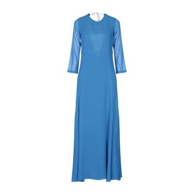 8PM ロングワンピース&ドレス アジュールブルー S レーヨン 100% ロングワンピース&ドレス