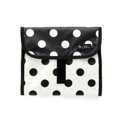 おむつポーチ クラッチタイプ polka dot large(broadcloth・black) (オムツケース おむつ入れ おむつバッグ 赤ちゃん ベビー 出産祝い)