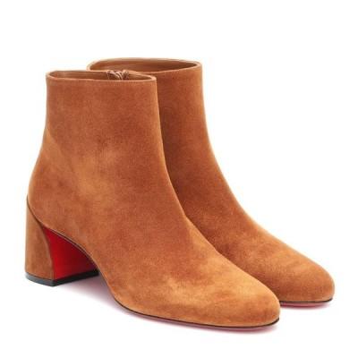 クリスチャン ルブタン Christian Louboutin レディース ブーツ ショートブーツ シューズ・靴 turela 55 suede ankle boots Ecureuil
