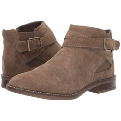 Clarks クラークス レディース 女性用 シューズ 靴 ブーツ アンクル ショートブーツ Camzin Hale Taupe Suede【送料無料】