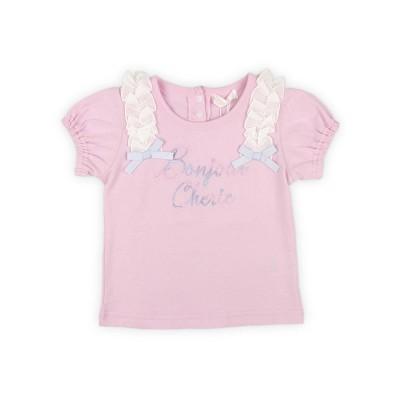 【Love Latte】半袖Tシャツ肩フリル
