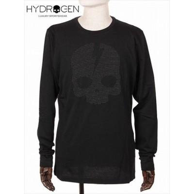 HYDROGEN ハイドロゲン スカル スタッズ Tシャツ カットソー ブラック 210-72441003 長袖 国内正規品