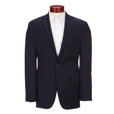 ターンベリー メンズ ジャケット&ブルゾン アウター Classic Fit Solid Wool Blend Sportcoat Navy