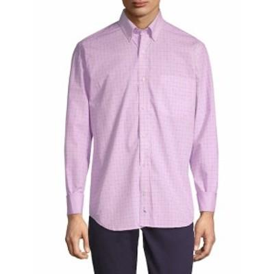 テイラーバード メンズ カジュアル ボタンダウンシャツ Edel Long-Sleeve Cotton Button-Down Shirt