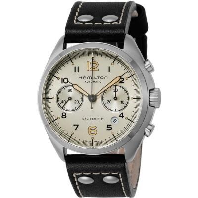 HAMILTON(ハミルトン) H76416755 アイボリー×ブラック カーキ パイロット パイオニア クロノ [自動巻き腕時計 (メンズウォッチ) 【並行輸入品】] 腕時計(海外メーカー)