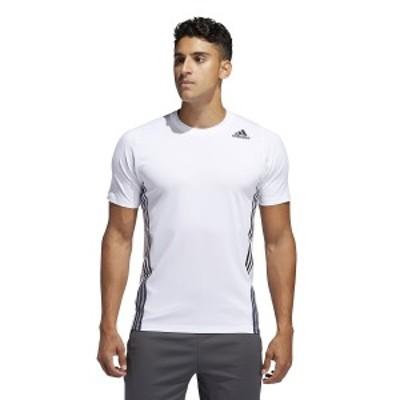 【セール】 アディダス メンズスポーツウェア 半袖機能Tシャツ M FL 3S+ TEE GLC11 FL4472 メンズ ホワイト