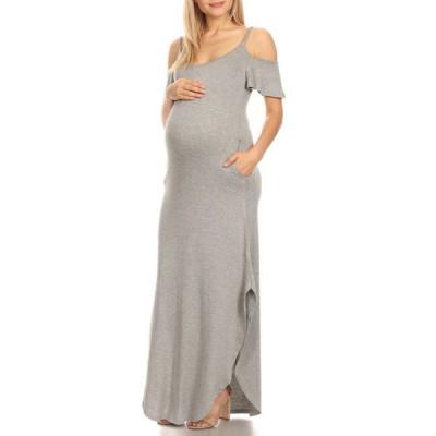 ホワイトマーク レディース ワンピース トップス Maternity Reta Maxi Dress