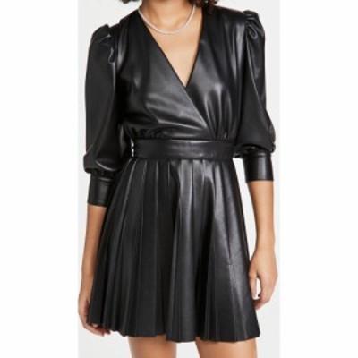 エムエスジーエム MSGM レディース ワンピース ラップドレス ワンピース・ドレス Faux Wrap Dress Black