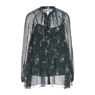 ESCADA SPORT フローラル柄シャツ&ブラウス  レディースファッション  トップス  シャツ、ブラウス  長袖 ダークグリーン