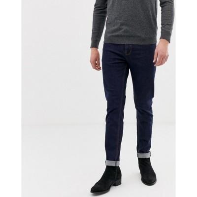 エイソス スキニー メンズ ジーンズ デニム asos skinny jeans in indigo ブルー 大きいサイズ