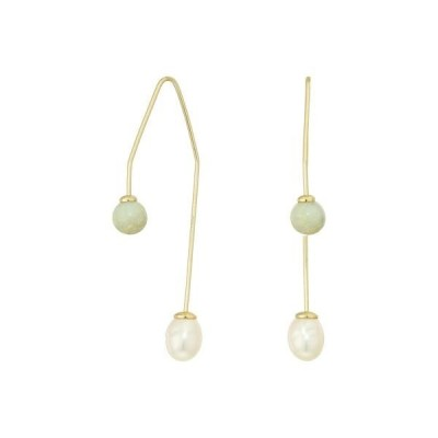ラッキーブランド レディース ピアス・イヤリング アクセサリー Modern Pearl Thread Earrings