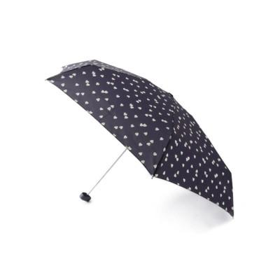 グローブ grove because ぼかしハートミニアンブレラ(折りたたみ傘) (ネイビー)
