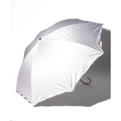 【ムーンバット】 PAUL & JOE ACCESSOIRES(ポール アンド ジョー アクセソワ)晴雨兼用日傘 ジャガード ワンポイント刺繍 レディース ライト グレー メーカー指定サイズ MOONBAT