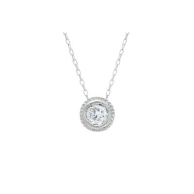 甲府市 ふるさと納税 SIクラスダイヤモンド0.1ctシンプルネックレス プラチナ