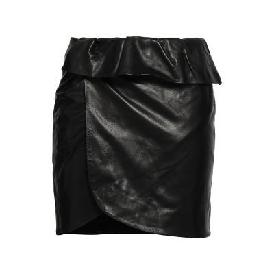 イロ IRO ミニスカート ブラック 38 羊革(ラムスキン) 100% ミニスカート