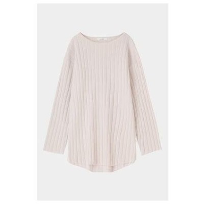 マウジー moussy SLIT RIB KNIT TUNIC (アイボリー)
