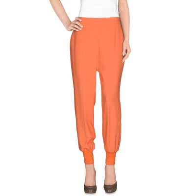 ステラ マッカートニー STELLA McCARTNEY パンツ オレンジ 40 レーヨン 64% / アセテート 32% / ポリウレタン 4%