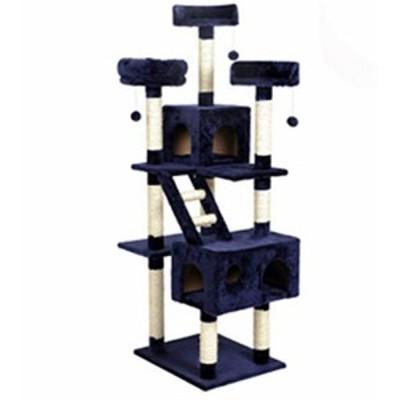 YUXUANCIXIU-R 猫クライミングフレーム、大型多層猫砂、猫スクラッチボード(中古品)
