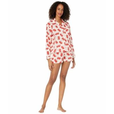 オンリーハーツ ナイトウェア アンダーウェア レディース Sleep to Dream Lovers Shorty Cotton PJ Set in Sack Lovers Print