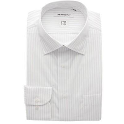 【3BLOCK SHIRT】ワイドカラードレスシャツ ストライプ 〔EC・FIT〕