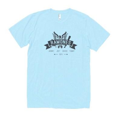 RAMONES 音楽・ロック・シネマ Tシャツ 水色