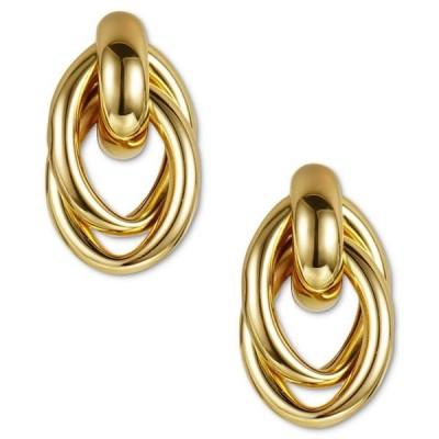 チャータークラブ レディース ピアス・イヤリング アクセサリー Gold-Tone Entwined Circle Doorknocker Drop Earrings
