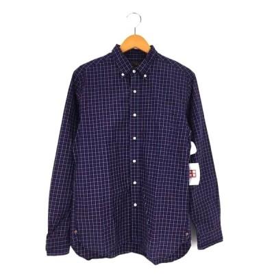 ビームスプラス BEAMS+ タッターソールチェック ボタンダウンシャツ メンズ M 中古 古着 210609