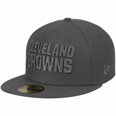 New Era ニュー エラ スポーツ用品  New Era Cleveland Browns Graphite Tonal League Basic 59FIFTY Fitted Hat