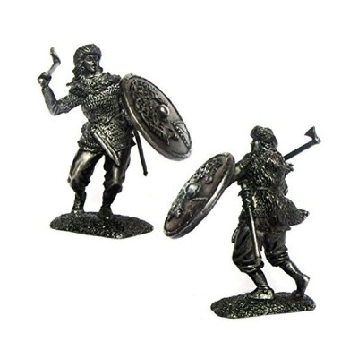 Military-historical miniatures Valkyrie IX-X centuries Tin Metal 54mm Action Figures Toy Soldiers Size 1/32 Scale for Home D〓cor Accents Co