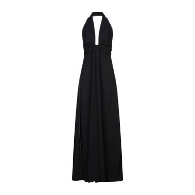 MANTÙ ロングワンピース&ドレス ブラック 44 アセテート 51% / レーヨン 47% / テンセル 2% ロングワンピース&ドレス