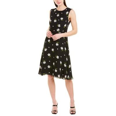 ミリー ワンピース トップス レディース Milly Anna Silk A-Line Dress black/white